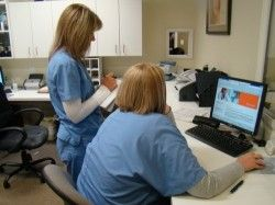 Administrative Staff of Kayal Dermatology & Skin Cancer Specialists at work