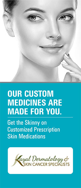Cover of brochure: Our Custom Medicines Are Made For You. Get the Skinny on Customized Prescription Skin Medications.